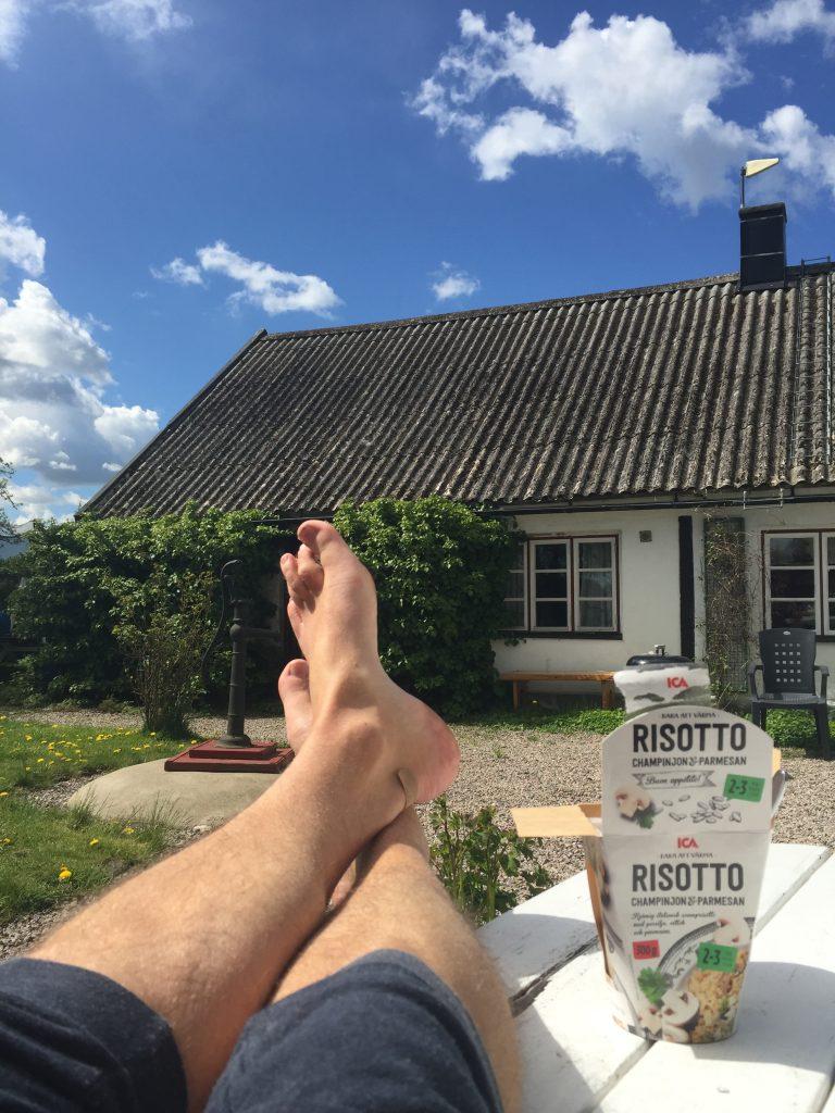 Slappar i solen